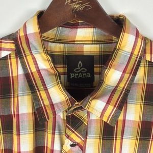 Prana Shirts - Prana Mens XL Shirt Sleeve Plaid Shirt